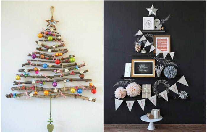 Идеи, изготовления необычных елок для праздничного украшения дома.