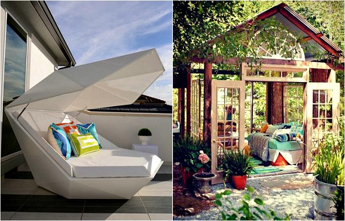 Чудесные идеи дизайна спальни под открытым небом.