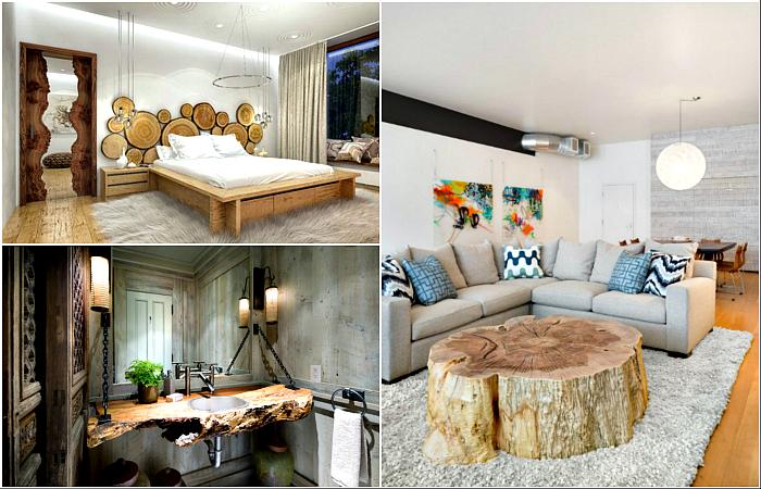 Мебель и предметы декора из дерева.