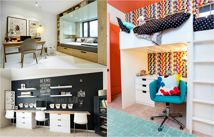 Вдохновляющие примеры дизайна комнаты школьника.