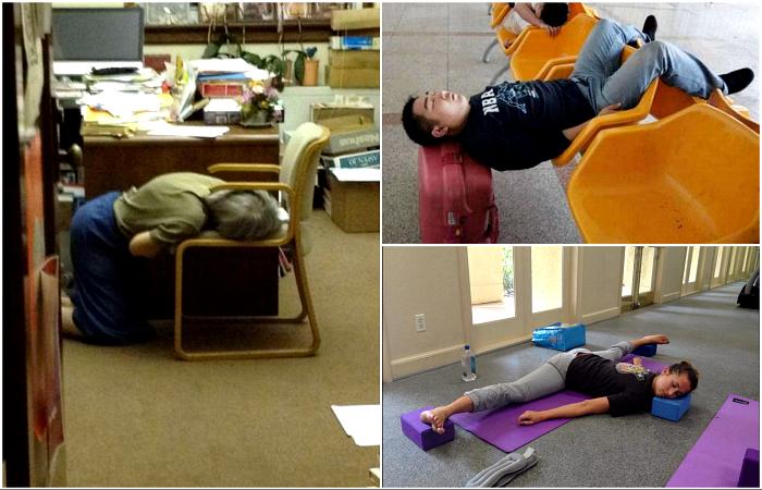 Люди, которые могут уснуть, буквально, где угодно.