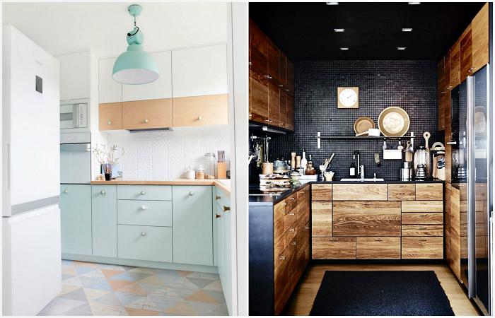 Практичные идеи обустройства маленькой кухни.
