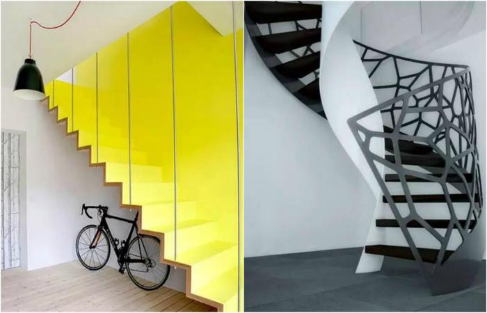 Дизайнерские лестницы в интерьере.