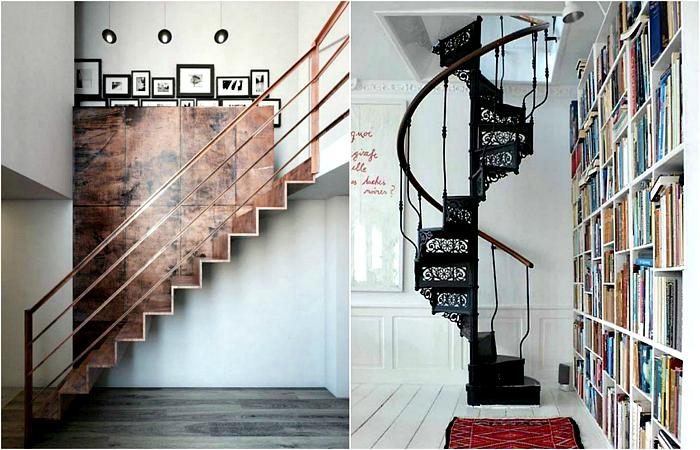 Оригинальные примеры дизайна современных лестниц.