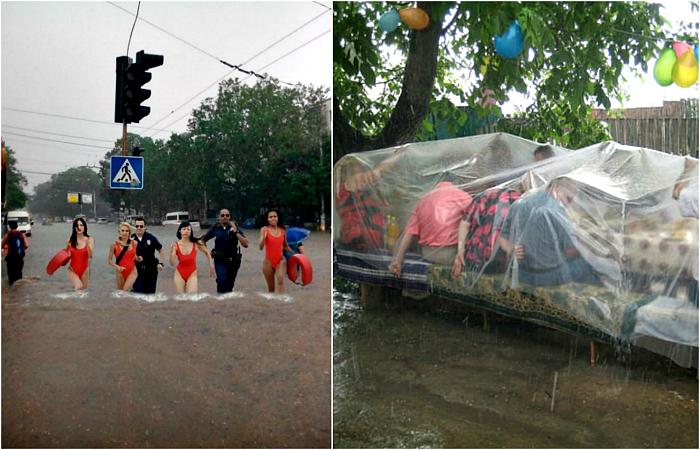 Забавные снимки, доказывающие, что плохая погода - не повод для печали.