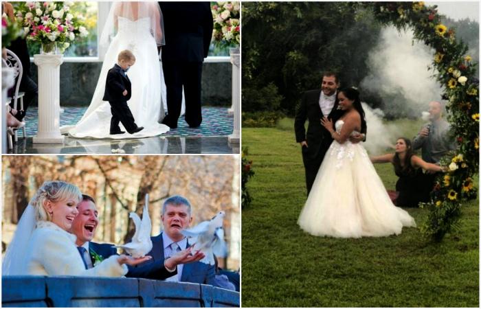 Смешные моменты и нелепые ситуации, произошедшие на свадьбах.