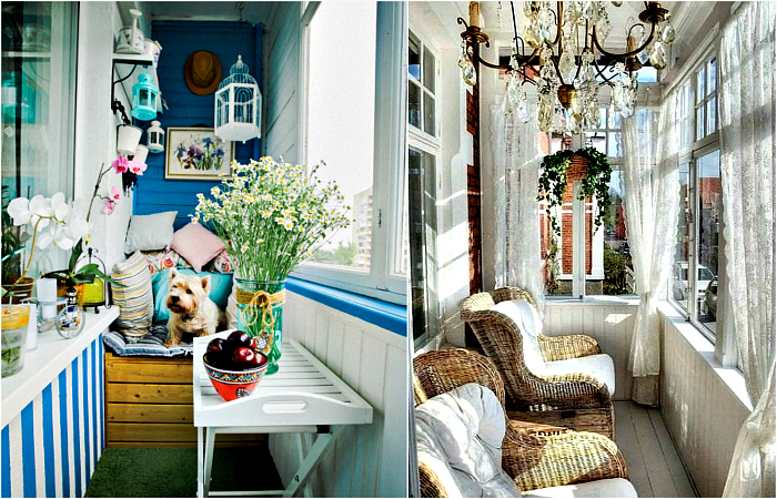 Свежие идеи по обустройству маленького балкона.