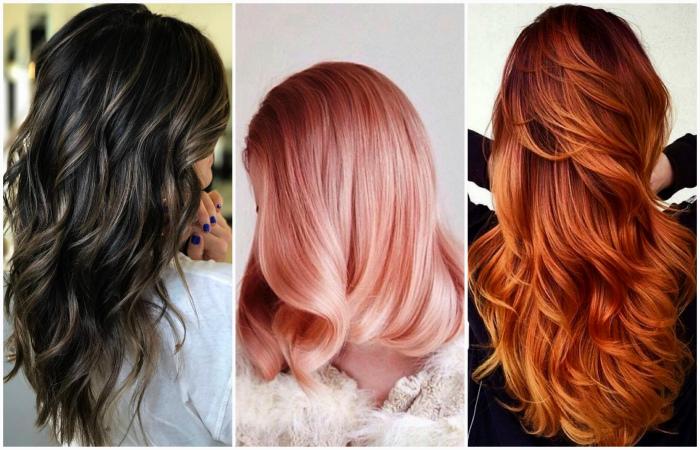Популярные тенденции окрашивания волос.