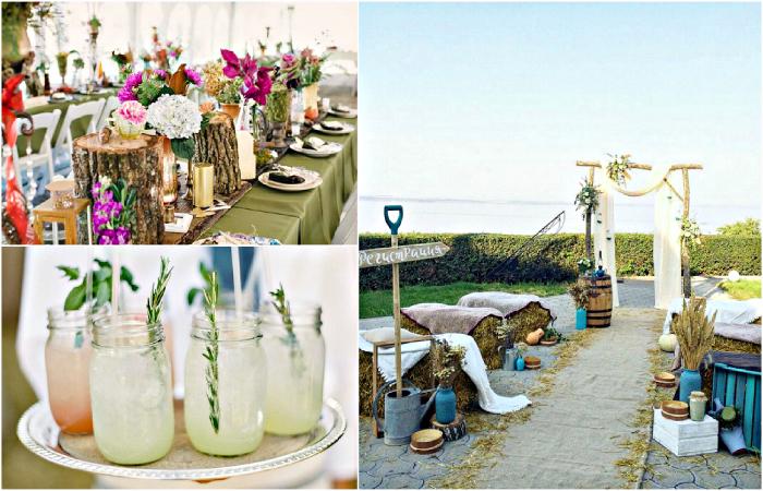 Потрясающие идеи для оформления свадьбы на заднем дворе.