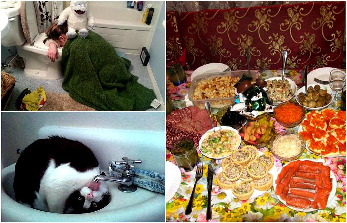 Уморительные снимки о том, как прошли новогодние праздники.
