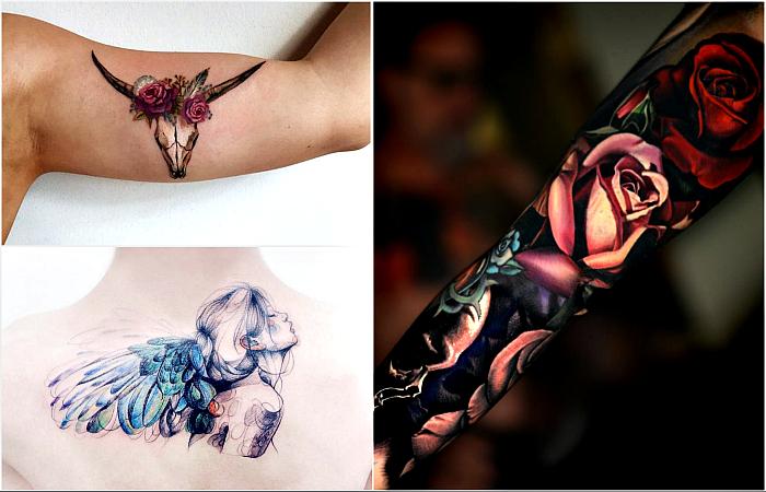 Стильные татуировки, которые подчеркнут красоту женских тел.