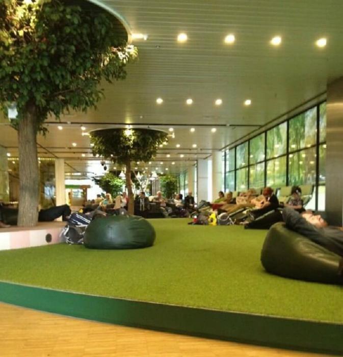 Дизайн зала ожидания. | Фото: Aguacate.