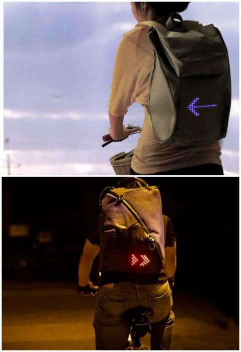 Рюкзак, передающий сигналы.
