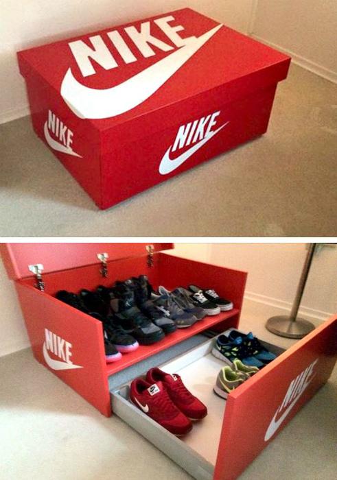 Вместительный ящик для обуви. | Фото: Pinterest.
