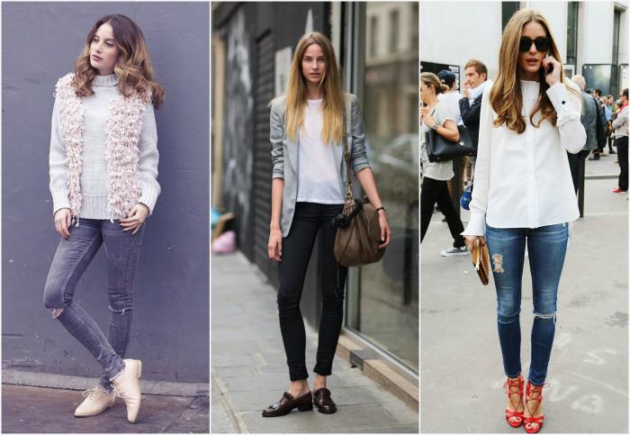 Обтягивающие джинсы.