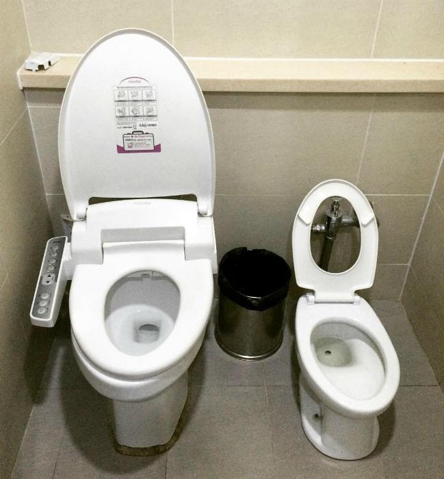 Двойной туалет для родителей и детей.| Фото: Жизнь прекрасна.