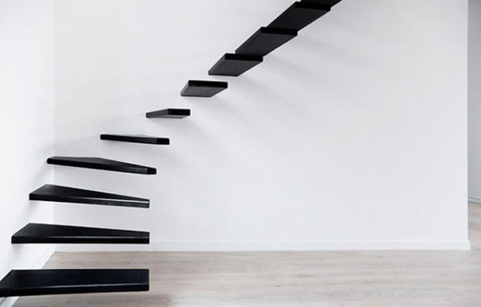 Лестница в стиле минимализм.