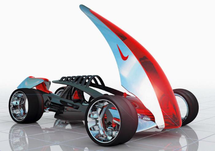 Виртуальный спорткар Nike One.