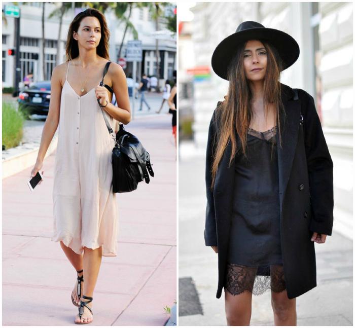 Модные платья «ночнушки».