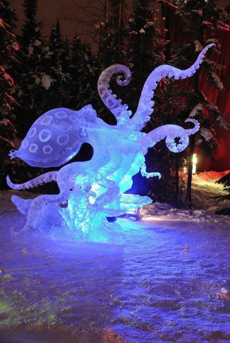 Реалистичный осьминог изо льда.