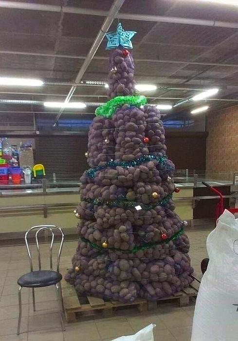 Картофельная елка.