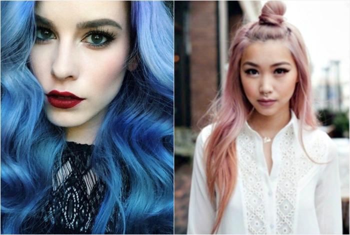 Приглушенные оттенки волос вместо ярких.