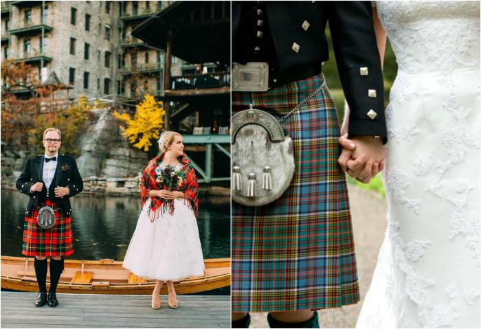 Шотландский свадебный наряд.
