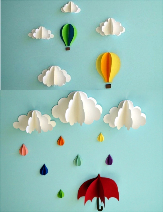 07No-MoneyDecoratingIdeasforWall Декор стен своими руками: 9 красивых идей, 50 фото
