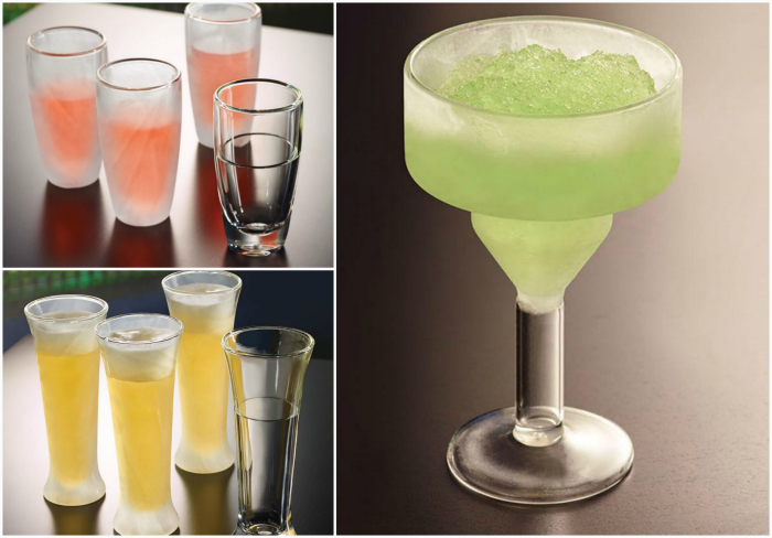 Стаканы, которые сохраняют напитки прохладными.