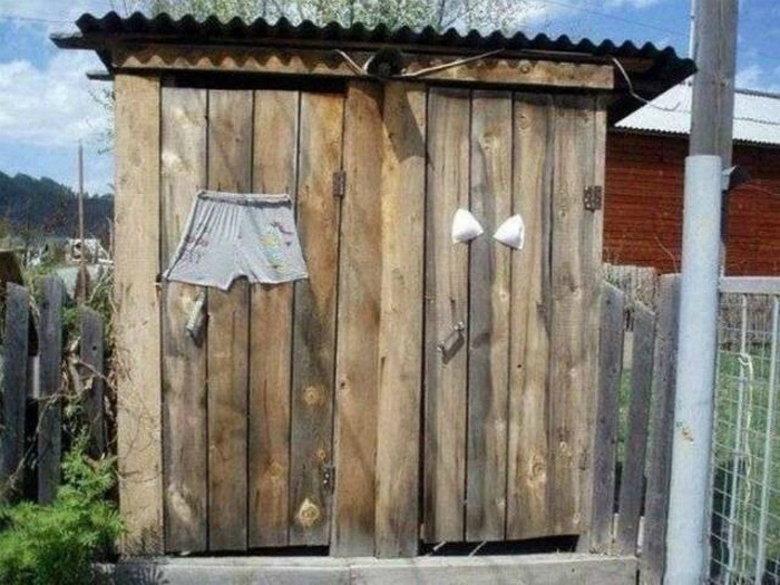 Туалеты с отличительными знаками.
