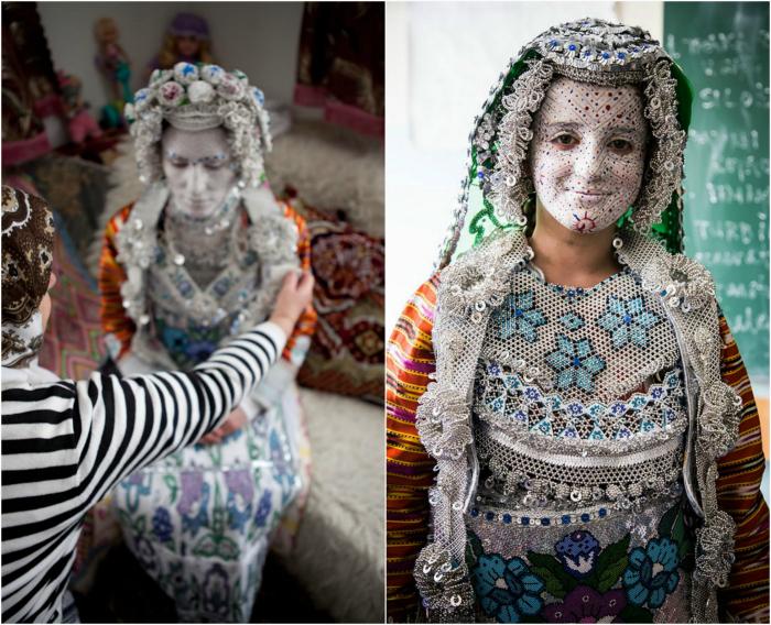 Традиционный образ невесты из Косово.