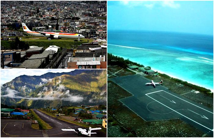 Экстремальные аэропорты, которые только усилят аэрофобию.
