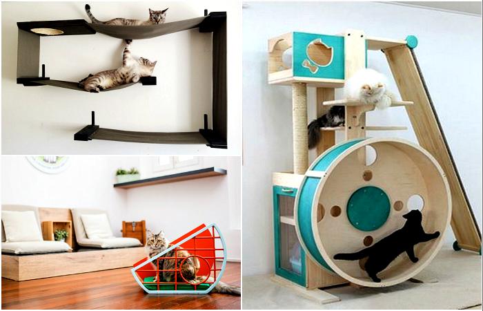 Дизайнерская мебель для котов.