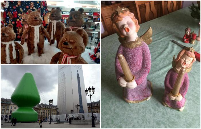 Ужасные примеры новогоднего декора.