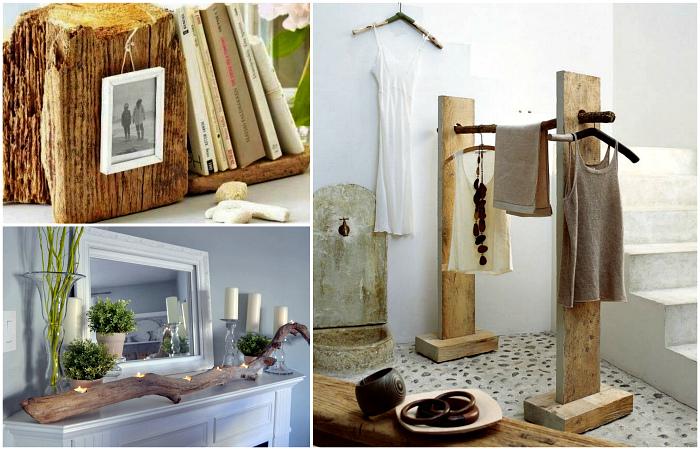 Уникальная мебель и предметы декора из натурального дерева.