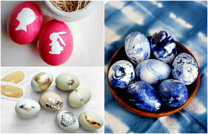 Свежие идеи декора яиц к празднику Пасхи.