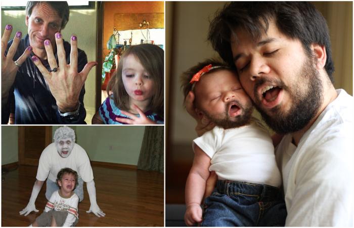 Позитивные снимки об отцах и детях.