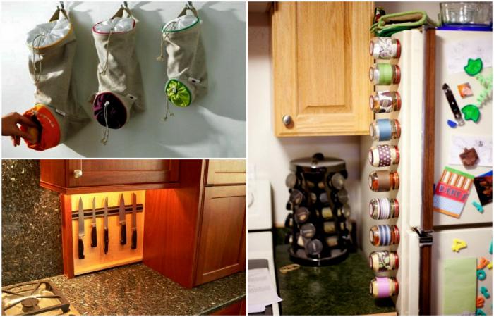 Простые системы хранения, которые помогут навести порядок на кухне.