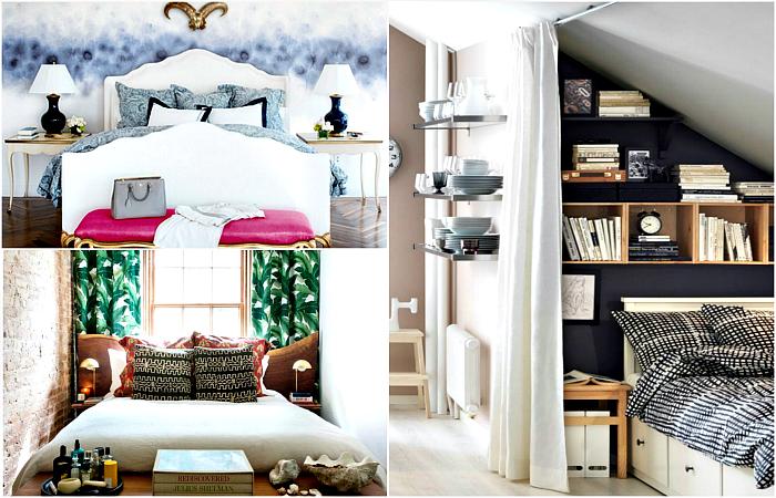 Замечательные идеи оформления маленькой спальни.