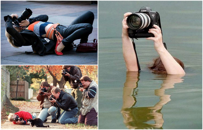Забавные кадры из жизни профессиональных фотографов.