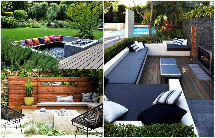 Очаровательные идеи обустройства стильного места для отдыха в саду.