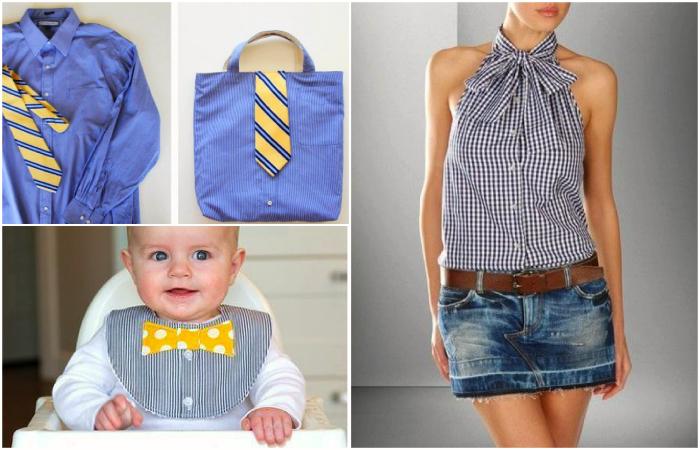 Практичные идеи редизайна мужских рубашек.