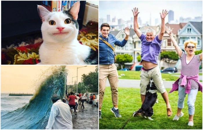 Спонтанные фотографии, запечатлевшие очень смешные моменты.