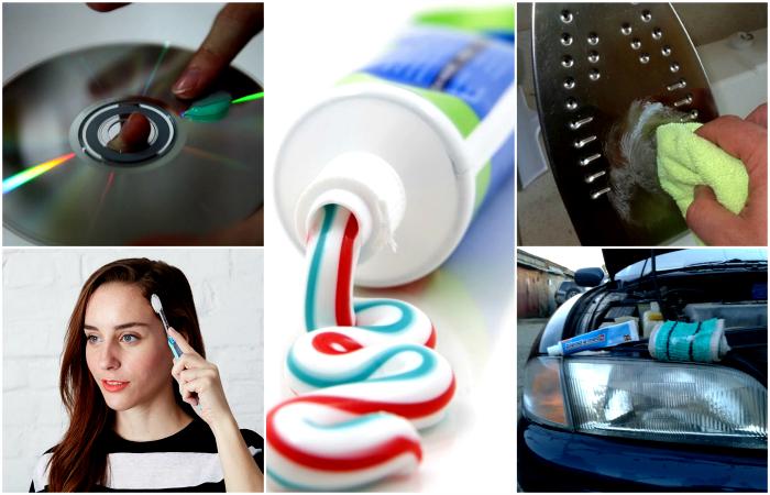 Практичные и полезные способы альтернативного использования зубной пасты.