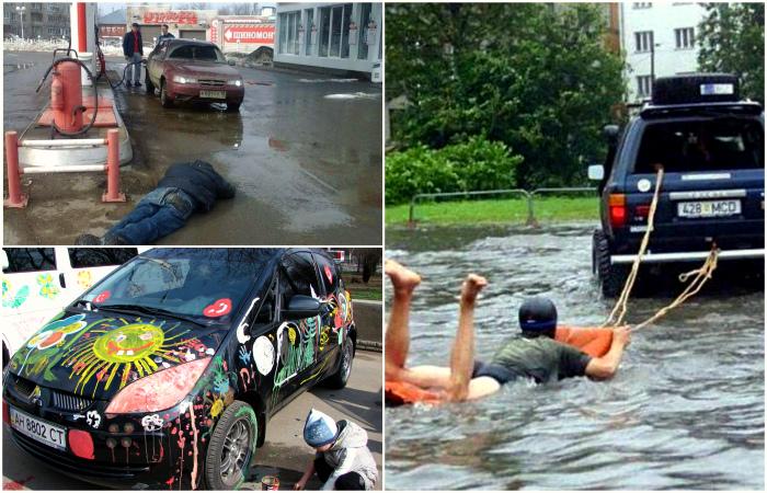 Смешные моменты из жизни автомобилистов.
