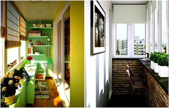 Вдохновляющие идеи для обустройства стандартных балконов.
