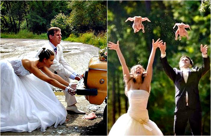 Запоминающиеся свадебные снимки.