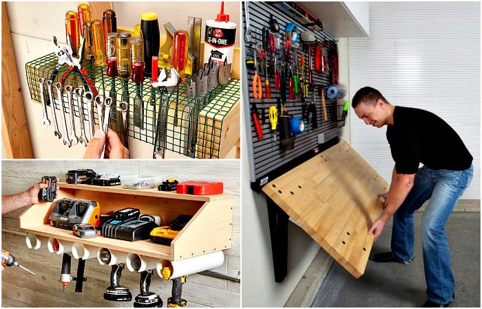 Практичные системы хранения в гараже.