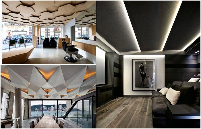 Оригинальные и современные потолки.