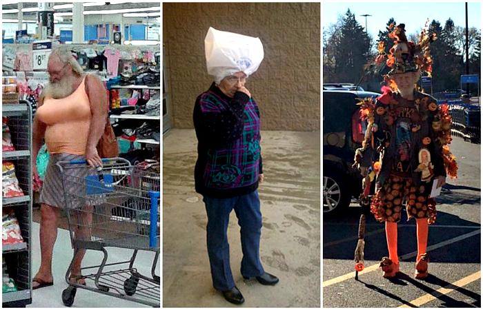 Экстравагантные посетители американских супермаркетов.